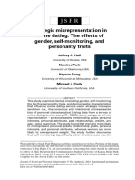 Strategic Misrepresentation in Online Dating; The Effects of Gender, Self-monitoring, And Personality Traits