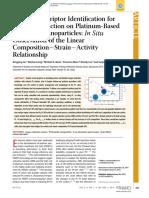 Activity Descriptor Identification for Oxygen Reduction on Platinum-Based Bimetallic Nanoparticles