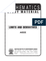 AIEEE Class XI Maths Limits &ampDerivatives