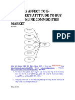 Factors Affect to E-consumer's Attitude to Buy in the Online Commodities Market