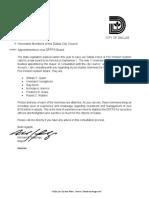 Rawlings memo to City Council