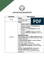 bed41a_Bibliografía 4° año ES 2012