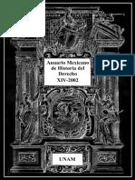 Anuario Mexicano de la historia del derecho