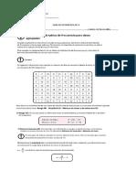 Guía de Estadística Nº 3 Octavo Año