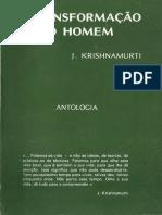 A Transformac3a7c3a3o Do Homem j Krishnamurti