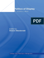 The Politics of Display_Museums, Science, Culture - Sharon Macdonald 1998