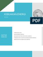 2. Kebijakan Energi