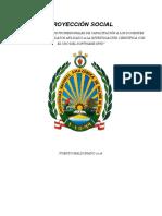 Plan de Trabajo Proyeccion Social_spss 20162