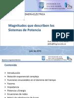 Magnitudes Que Describen Los Sistemas de Potencia