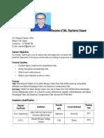 Resume of Md. Rayhanul Haque
