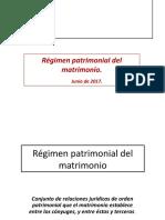 Régimen Patrimonial Junio de 2017