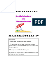 Matematicas 5º Ep-repaso en Verano