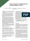 Apendicitis Aguda y Proteina c Reactiva