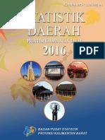 Statistik Daerah Provinsi Kalimantan Barat 2016