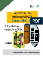 3) Rick Reidinger - Overview of SS 603