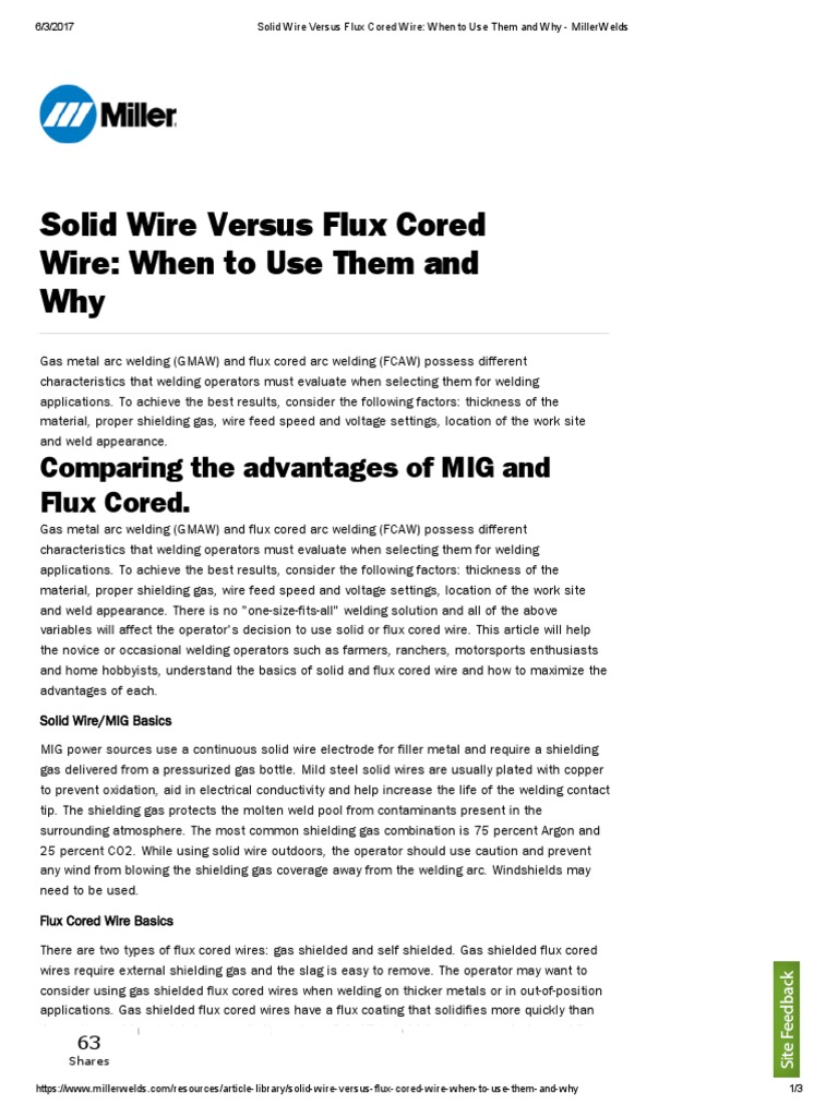 Solid Wire Versus Flux Cored Wire_ When to Use Them and Why ...