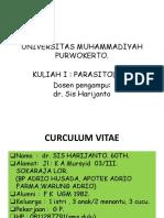 Kuliah 1. Parasitologi Ump Parasitologi