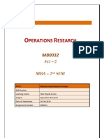 MB0032 - Operations Research - Completed