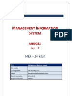 MB0031 - Management Information System - Completed