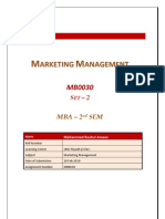 MB0030 - Marketing Management - Completed