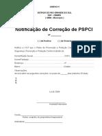 Anexo h - Notificação de Correção de Pspci