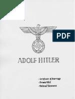 Hitler Marriage Will Political Testament
