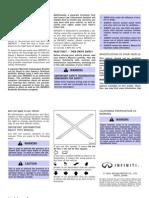 2005 Infiniti FX Manual