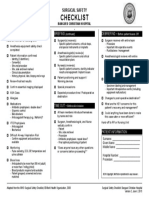 Surgical Safety Checklist WHO