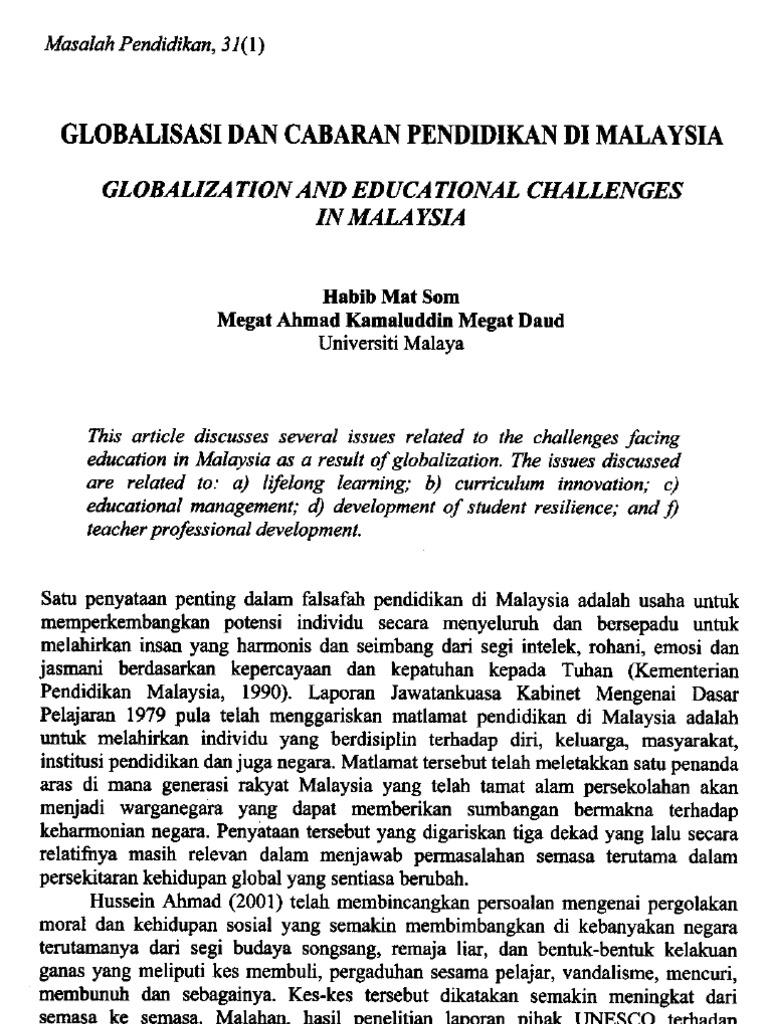 cabaran globalisasi pdf