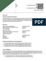 Sample Corporate Resume