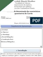 Determinação Das Características Quantitativas Do Carvão by Abdul Laura Condula