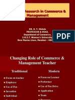 Areas of Research in Commerce & Management