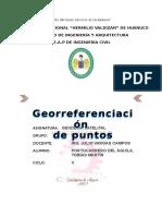 Trabajo de Georreferenciación Con GPS