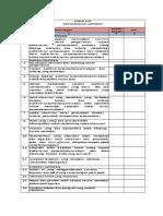 Formulir Xxi-check List Penyelesaian Laporan ruskanu maarif