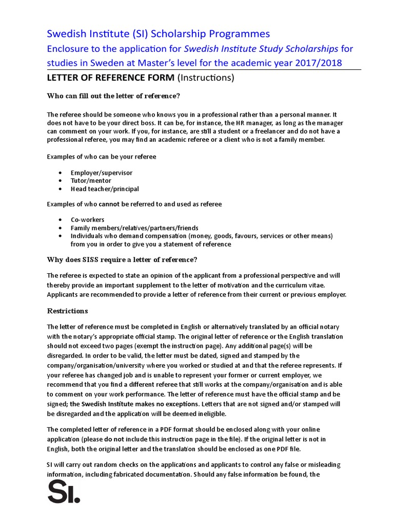 Letter Of Reference Template Siss 2017 2018 Notary Public