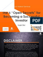 Mr Nabil Fikri the 5 Open Secrets of Becoming Successful Investor