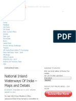 National Inland Waterways of India - Maps and Details - InSIGHTS