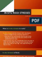In-situ Rock Stresses