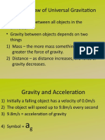 Gravity and Acceleration Notes 2014