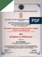 Iste Thesis Award