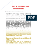 Burnout in Children and Adolescents