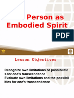 3 the Person as Embodied Spirit