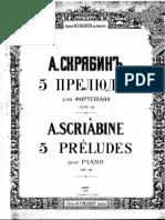 Scriabin 5 Preludios OP.