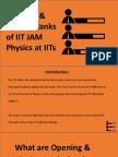 Opening & Closing Ranks of IIT JAM Physics at IITs