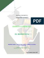 Memoria Descriptiva Cuartel Bolivar