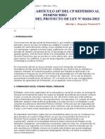 Analisis Del Articulo 107 a Proposito Del Feminicidio 30068