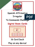 Preview Spanish Affirmative Irregular Tú Commands Challenge Boom Cards.pdf