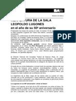 Sala Lugones - Reapertura Sala Lugones (2017)