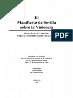 Manifiesto de Sevilla Contra VIOLENCIANUNESCO 1986