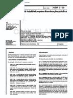 NBR 05169 - Rele Foteletrico Para Iluminacao Publica - Norma Cancelada